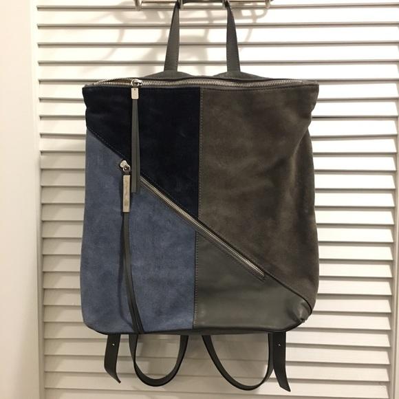 Innue Handbags - Innue Italy Leather Suede Backpack geometric